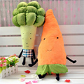 Kawaii creative plant plush toys vegetables doll Soft Carrot Broccoli Elegant stuffed Animal Good birthday present