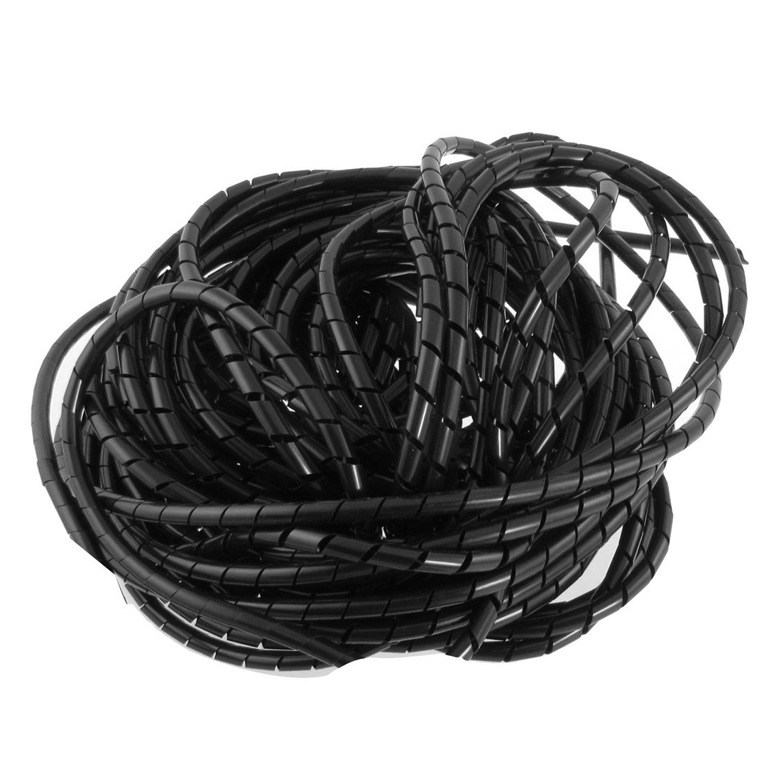 HHTL-21M 68 Ft PE Polyethylene Spiral Wire Wrap Tube PC Manage Cable 6mm