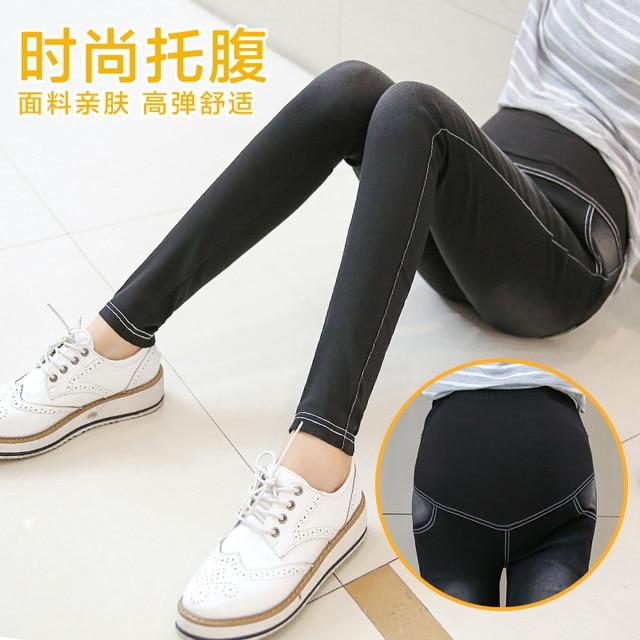 2016 Беременных женщин Hitz мельница мыть джинсы мода беременна лифт желудка длинные брюки ноги карандаш