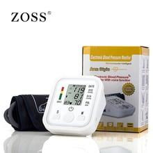 ZOSS английский или русский Голос вещания цифровой ЖК-дисплей предплечье кровяное давление мониторы heart beat инструмент тонометр сердечного ритма