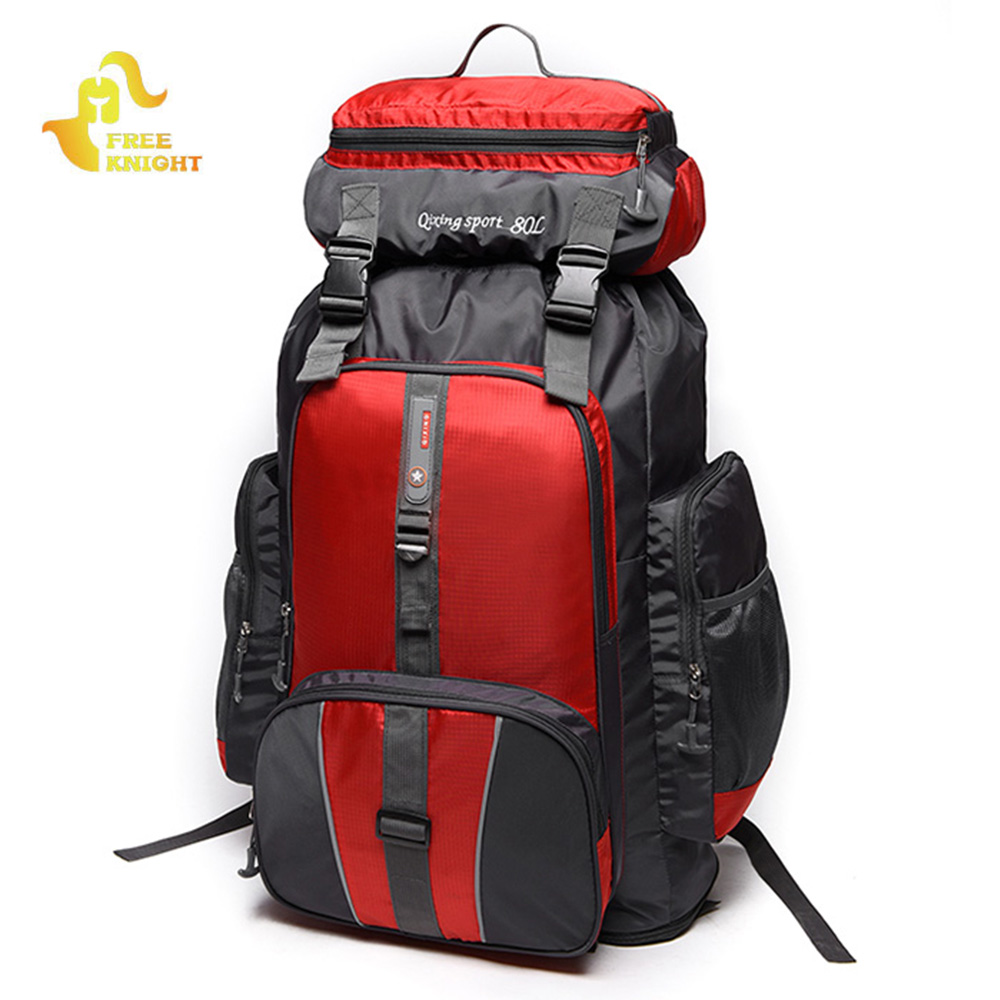 Free Knight 80L Large Capacity Climbing Hiking Backpack Waterproof Camping Mountaineering Backpack Sport Travel Bag camping hiking bag outdoor climbing backpacks waterproof nylon travel sport mountaineering bags zipper hiking backpack 80l