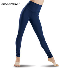 6a5f55a86ddcc SPEERISE Black Womens High Waisted Leggings Stretch Pants Full Length Plus  Size Lycra Spandex Fashion Fitness