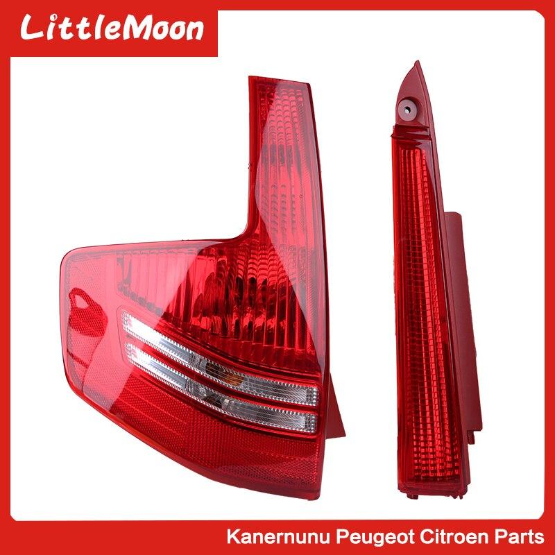 LittleMoon Original brand new rear taillight assembly Taillight Brake light for Citroen C quatre Hatchback cquatre 5 doors