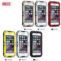 IP 68 Underwater Waterproof Case For IPhone 6 6s Plus 7plus Cases Metal Aluminum Swimming Full