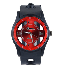 Luxury Men Black Large Case Watch Men Quartz Movement PU Strap Clock Man Sports Watches Women