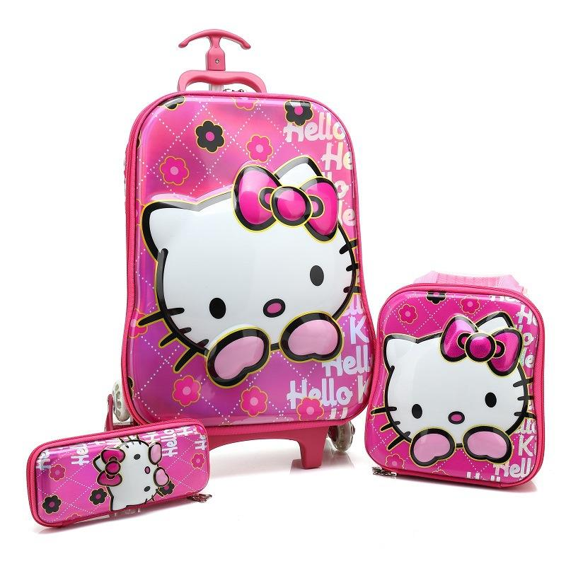 HOT 3PCS/set 5D students trolley case child Climb stairs Luggage children EVA Travel bag cartoon suitcase pencil box kids giftHOT 3PCS/set 5D students trolley case child Climb stairs Luggage children EVA Travel bag cartoon suitcase pencil box kids gift