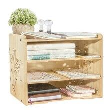Desktop Magazine Storage Trays Paper Organizer Magazine Holder Grid Book Stand Display Office School Supplies Joy Corner