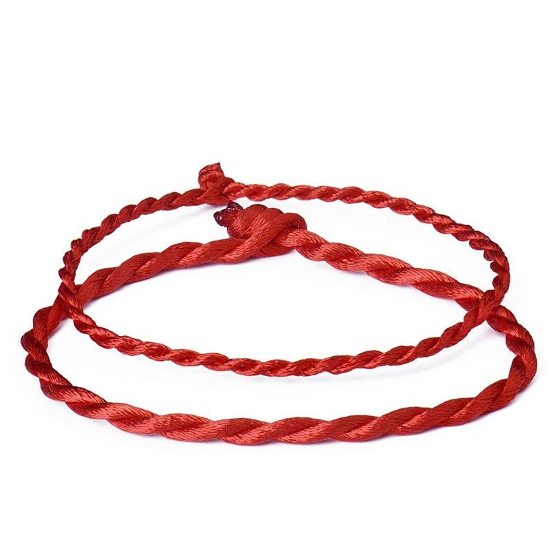 Wholesale 10Pcs/lot Fashion Red Thread String Bracelet Lucky Red Green Handmade Rope Bracelet for Women Men Jewelry Lover Couple