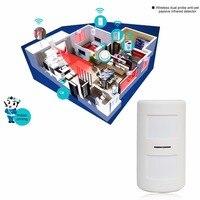 Mini Wireless Passive Anti Pe Infrared Detector Double Probe PIR Motion Sensor For Alarm Systems Home