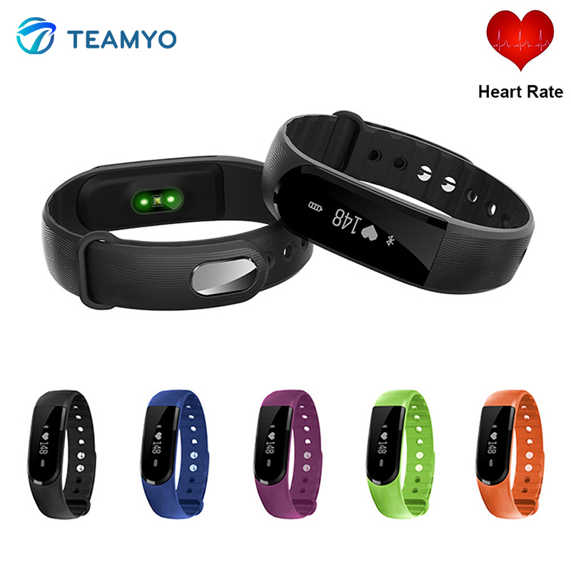 New ID101HR Smart Band ID101 Wrist Bracelet fitness tracker heart rate monitor cardiaco smartband wristband For Android iOS