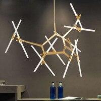 Agnes Colina de Iluminación Minimalista moderna Decoración Arte Rama Araña de Luz Lámpara de La Sala de estar del Diseño Italiano Famoso Agnes Agnes