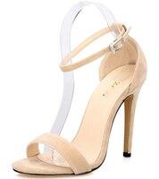 22b30857b Vogue Sexy High Heels Ankle Strap Pumps Women Sandals Summer Shoes Woman Plus  Size 26 62