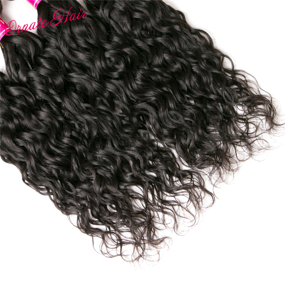 Ornate Brazilian Hair Bundles Natural Wave Human Hair Extensions 12-24 Inch Non Remy Weave Natural Color 3 Bundle Deals