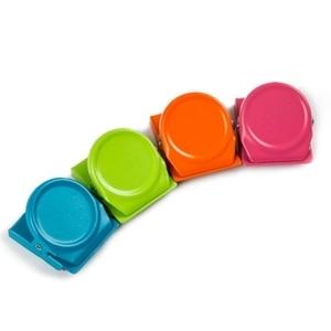 Image 4 - Clips magnétiques, 24 pièces Clips magnétiques en métal, réfrigérateur tableau blanc mur réfrigérateur magnétique mémo Note Clips aimants métal Cli