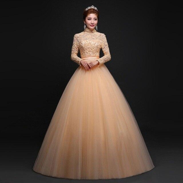 vestidos de novia vestido de novia hecho a mano de oro bordado de