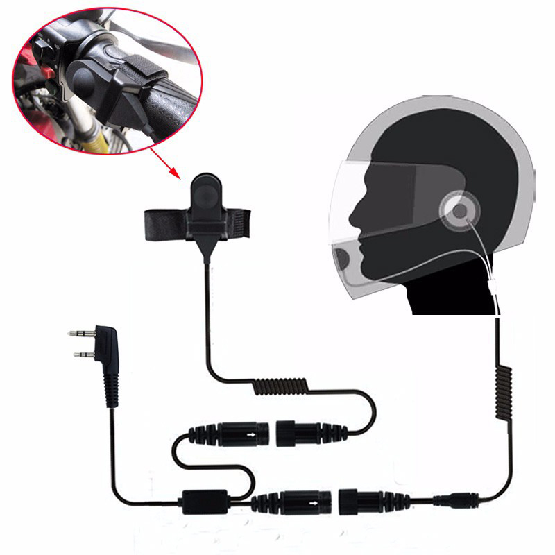 Motorcycle Full Face Helmet Headset Earpiece for Two Way Radio Baofeng Walkie Talkie UV-5R UV-5RA Plus BF-888S GT-3 GT-3TP Mark Головная гарнитура