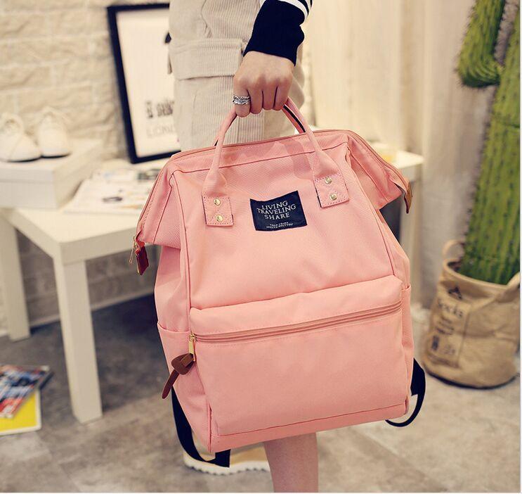 все цены на New Women Backpack Female Backpacks High Quality Waterproof Nylon Women Bag Women's Travel Backpack back pack mochila 2017 онлайн