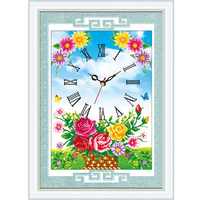 5D DIY Diamond Painting Watches And Clocks Embroidery Cross Stitch Rhinestone Mosaic Painting Decor Christmas Gifts