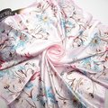 90cm*90cm 2016 Fashion Brand Female Pink Scarf,Women Polyester Silk Scarf Flowers Design Satin Big Square Scarf/Shawl For Ladies