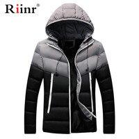 Riinr Brand Casual Men Jacket New Winter Warm Men's Patch Work Cotton Blend Mens Jacket Coats Casual Zipper Thick Jackets