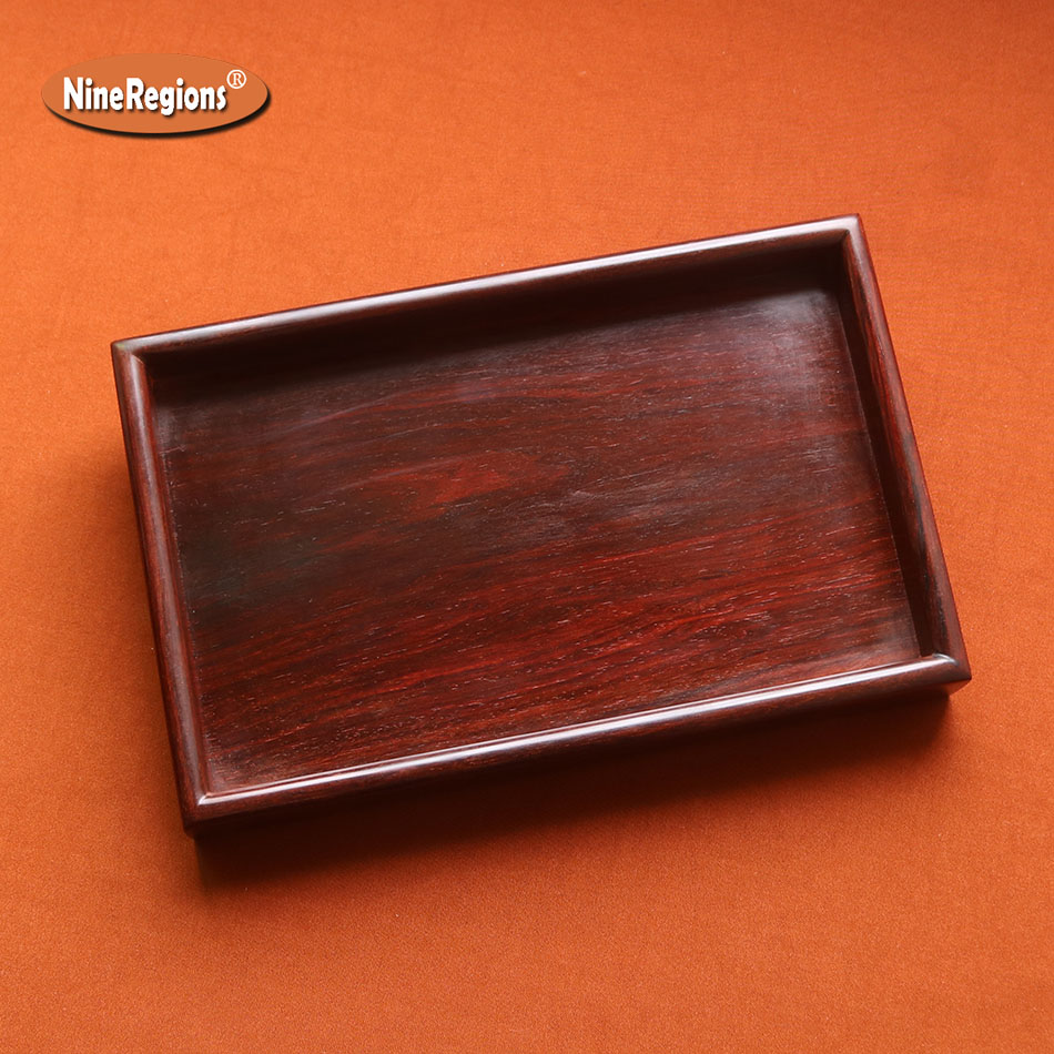 Finest jewelry show tray Authentic Lobular Red Sandalwood of indian decor houseware wood food plate carving artwork image