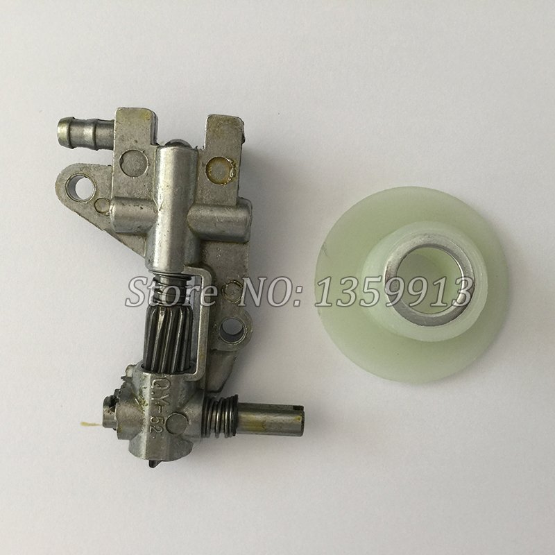 New Drive Chainsaw Oil Pump with Gear Worm Set for Chainsaw 4500 5200 5800 45CC 52CC 58CC Quality Chain Saw Parts 20pcs bulk price chain saw parts oil pump worm gear fit chinese saws komatsu zenoah timbertech silverline taurus 4500 5200 5800