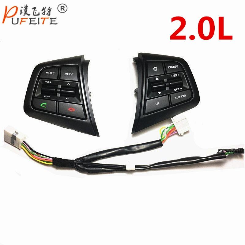 For Hyundai IX25 2.0 button steering wheel control button Cruise Creta English version 2.0L коврики в салонные ниши синие ix25 для hyundai creta 2016