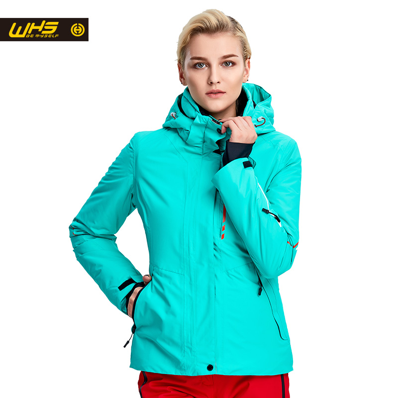 WHS New Women ski Jackets winter Outdoor Warm Snow Jacket coat wanita salji kalis air salji wanita pakaian sukan bernafas