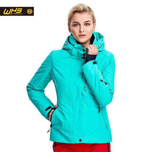 WHS Новых женские лыжные Куртки зимой На Открытом Воздухе Теплая Куртка Сноуборд пальто женский водонепроницаемый и ветрозащитные снег куртки дамы дышащий спортивная одежда