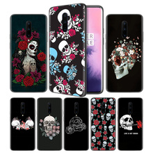Floral Sugar Skull Soft Black Silicone Case Cover for OnePlus 6 6T 7 Pro 5G Ultra-thin TPU Phone Back Protective