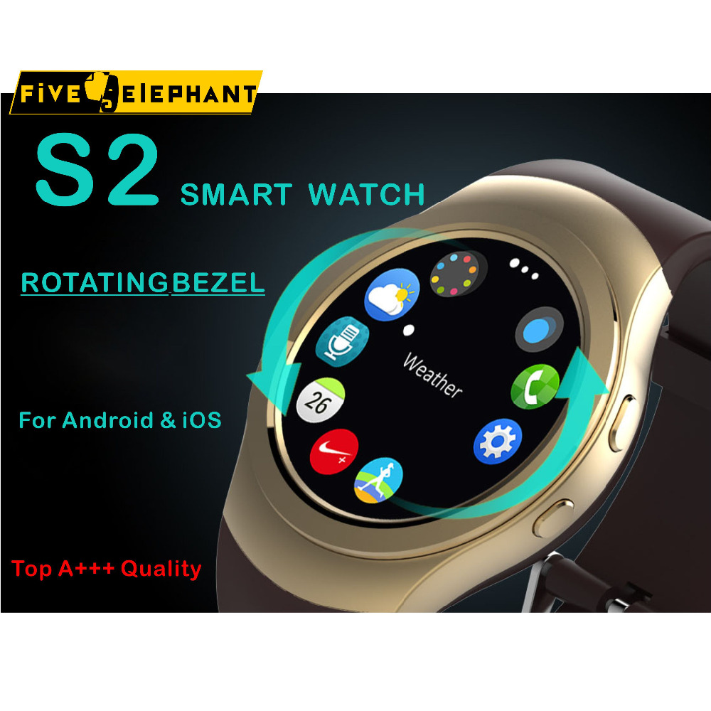 imágenes para Bluetooth smart watch as2 s2 smartwatch reloj bisel giratorio para apple iphone samsung para android huawei xiaomi lenovo