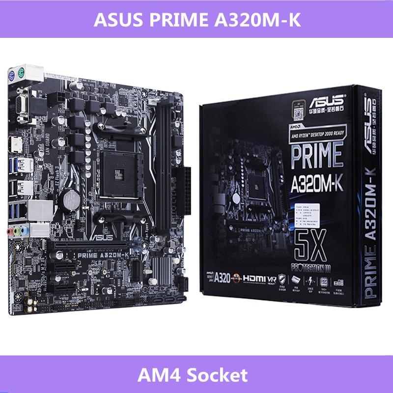 Asus AMD Ryzen AM4 Socket DDR4 VGA HDMI M.2 USB 3.1 Micro ATX PRIME A320M-K Motherboard