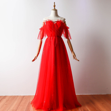 Wedding Guest Dress  Long Prom Dress Red  A-Line  V-neck  Dress Bridesmaid  Sequined  Empire Back of Bandage v neck red bean pink colour above knee mini dress satin dress women wedding party bridesmaid dress back of bandage