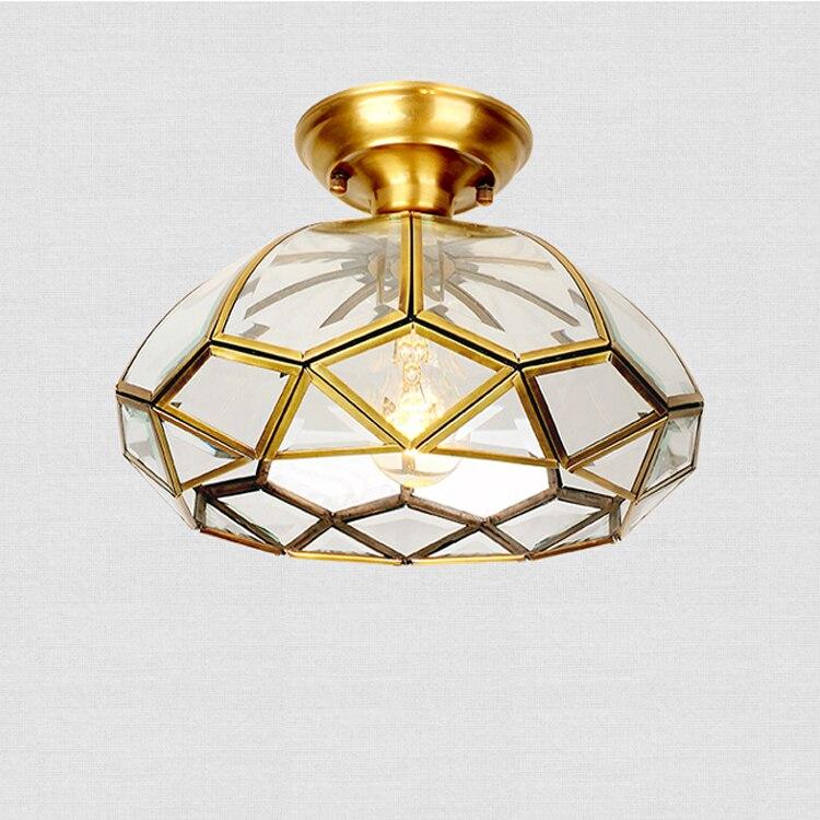 Медных американский стиль потолочный светильник Европейский стиль маленькая люстра вход свет коридор лампа кухня Балкон CL zl294