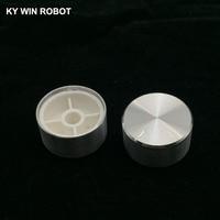 potentiometer knob 1 pcs 25x13mm Aluminum Alloy Potentiometer Knob White (1)