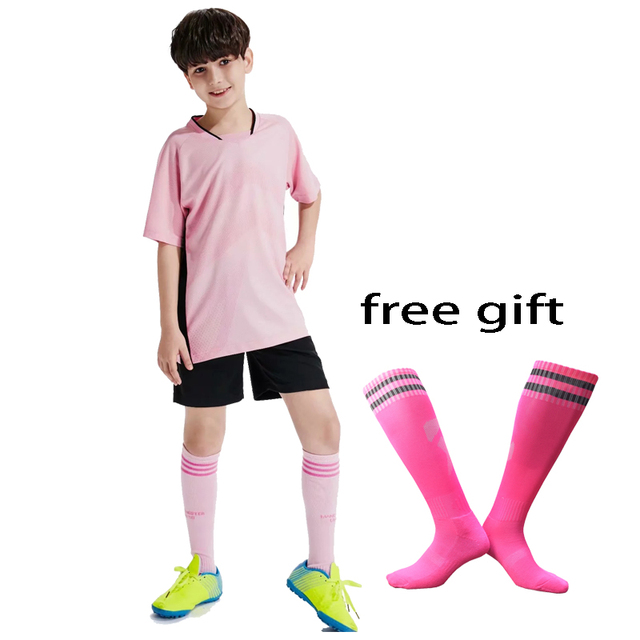 Boys girls soccer jerseys football set 2019 Survetement Football suits boys short sleeve football uniforms training sport suits