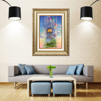 Artcozy Golden Frame Abstract watercolor paint Waterproof Canvas Painting