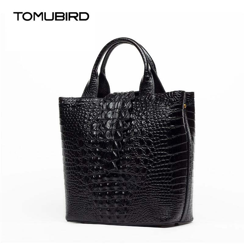 TOMUBIRD 2017 nouveau grain alligator gaufrage supérieure en cuir designer célèbre marque femmes sacs de luxe en cuir véritable sacs à main