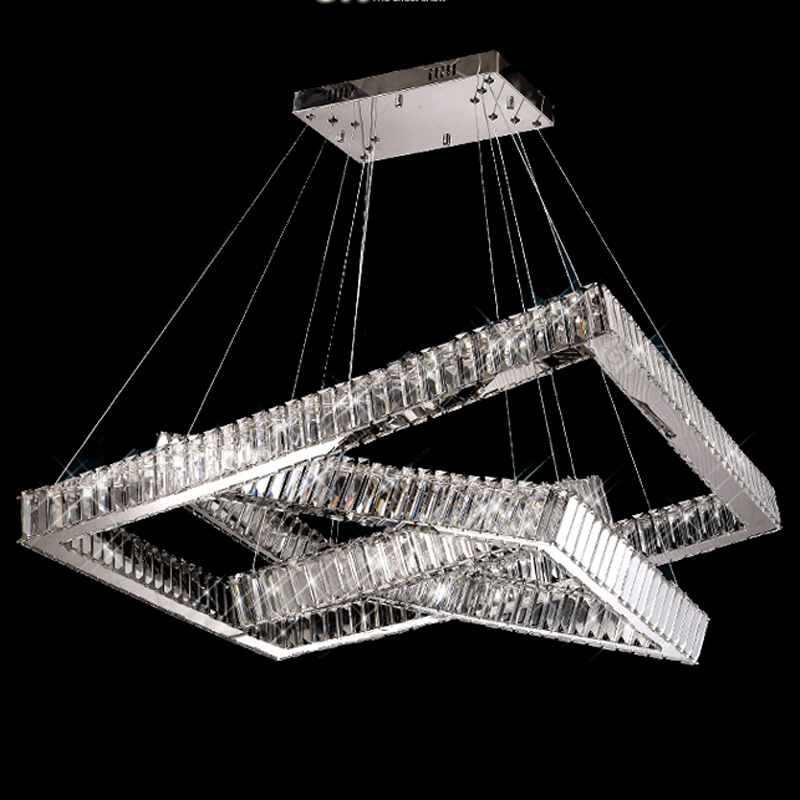 Hot Sale LED K9 Crystal Ring Pendant Light Lamp Lustres De