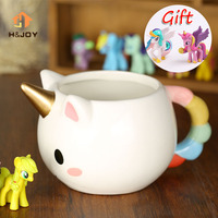 Cartoon Unicorn Mug 3D Ceramic Coffee Cup Children Girl Creative Cute Gift Wild Finding Magical Horse