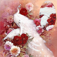 5D DIY Diamond Painting Special Shaped Diamond Embroidery Animal Peacock Full Cross Stitch Mosaic Decoration Crafts
