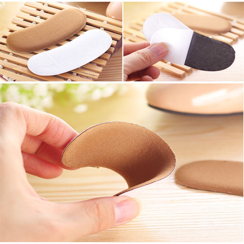Sticky Fabric Shoe Back Heel Inserts Insoles Pads Cushion Liner Grips 5Pairs HOT velishy 1 pair sticky shoe back heel inserts insoles pads cushion liner protector foot care