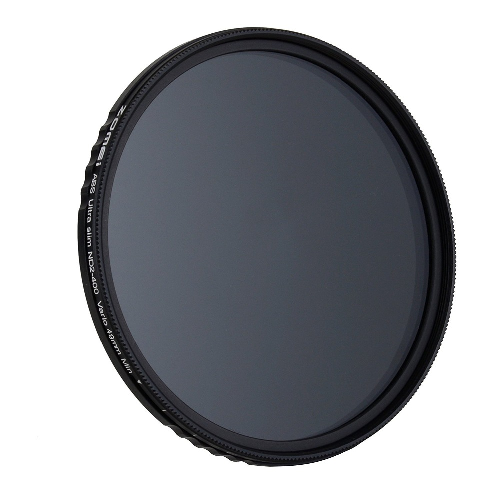Image 4 - ZOMEI ABS Slim Adjustable Filtro Neutral Density ND2 400 Filter  For DSLR Camera Lens No X Pattern In The Middle Of The PictureCamera  Filters
