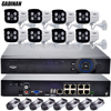 GADINAN 48V 8CH PoE Network NVR IEEE802 3af 8PCS 1080P Waterproof PoE IP Camera Kit Surveillance