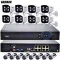 GADINAN 48 V IEEE802.3af PoE 8CH Rede NVR + 8 PCS 1080 P Câmera IP PoE À Prova D' Água Kit de Vigilância PoE câmera 1080 P CCTV IP Sistema