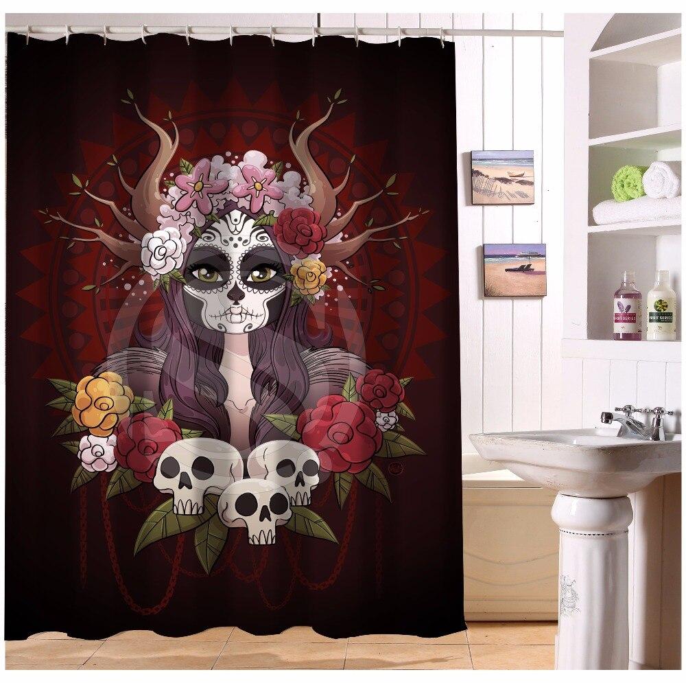 Pirate bathroom decor - U419 71 Custom Home Decor Cool Pirate And Skull Fabric Modern Shower Curtain European Style Bathroom Waterproof Wjy1
