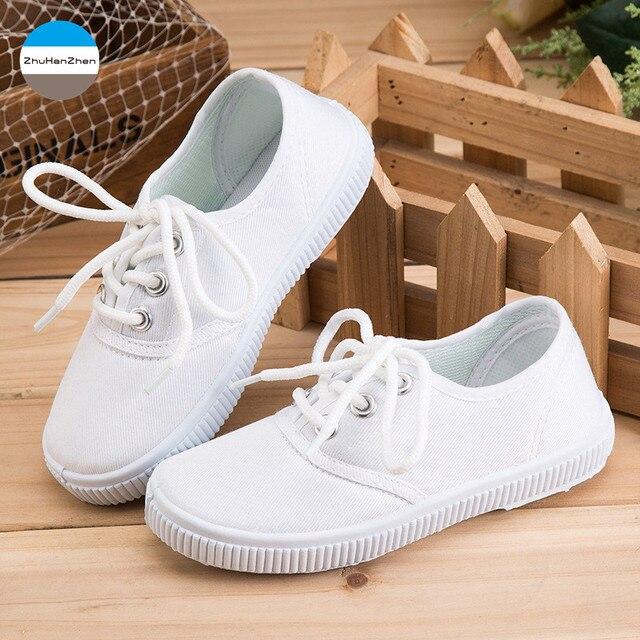 2018 3-8 anos de idade meninos e meninas sapatos de lona das crianças casual 9c538f14bc4