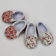 Floral New Doll Shoes For 18 Inch American Suit 45cm Baby Spring Flower 7cm for 1/3 BJD Accessories