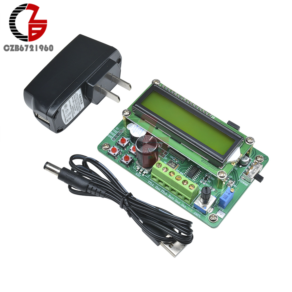 0 01Hz - 5MHz DDS Function Signal Generator Module 1602 LCD Display Sine  Triangle Square Wave TTL Output Storage Recall Counter
