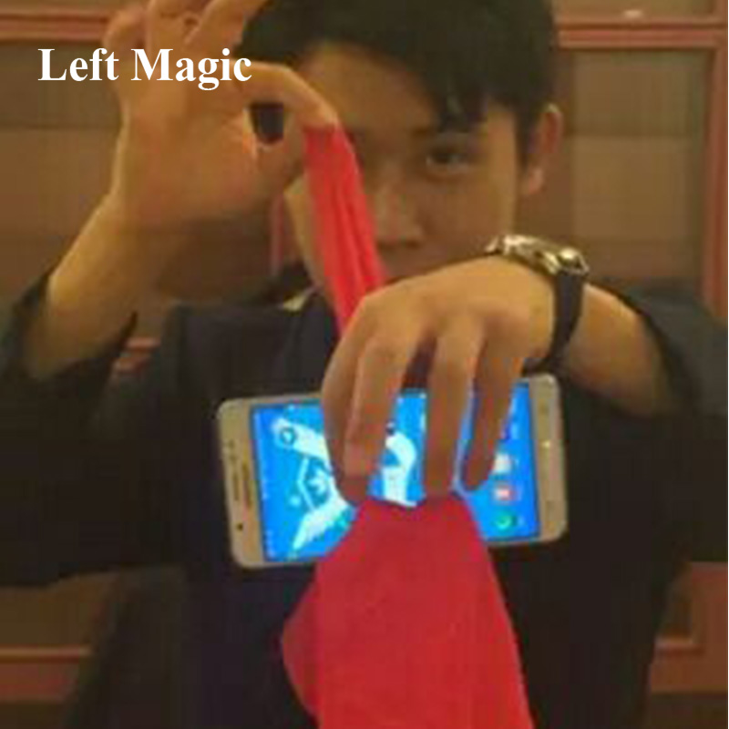 1 Pcs Scarf/Silk Through Phone Close Up Magic Tricks Easy To Do For Professional Gimmick Magicians Gag Toys Party Prop Tools